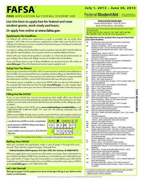 paper fafsa Reports & resources time for paper fafsa was of actions or functions result in the processing of the free application for federal student aid.
