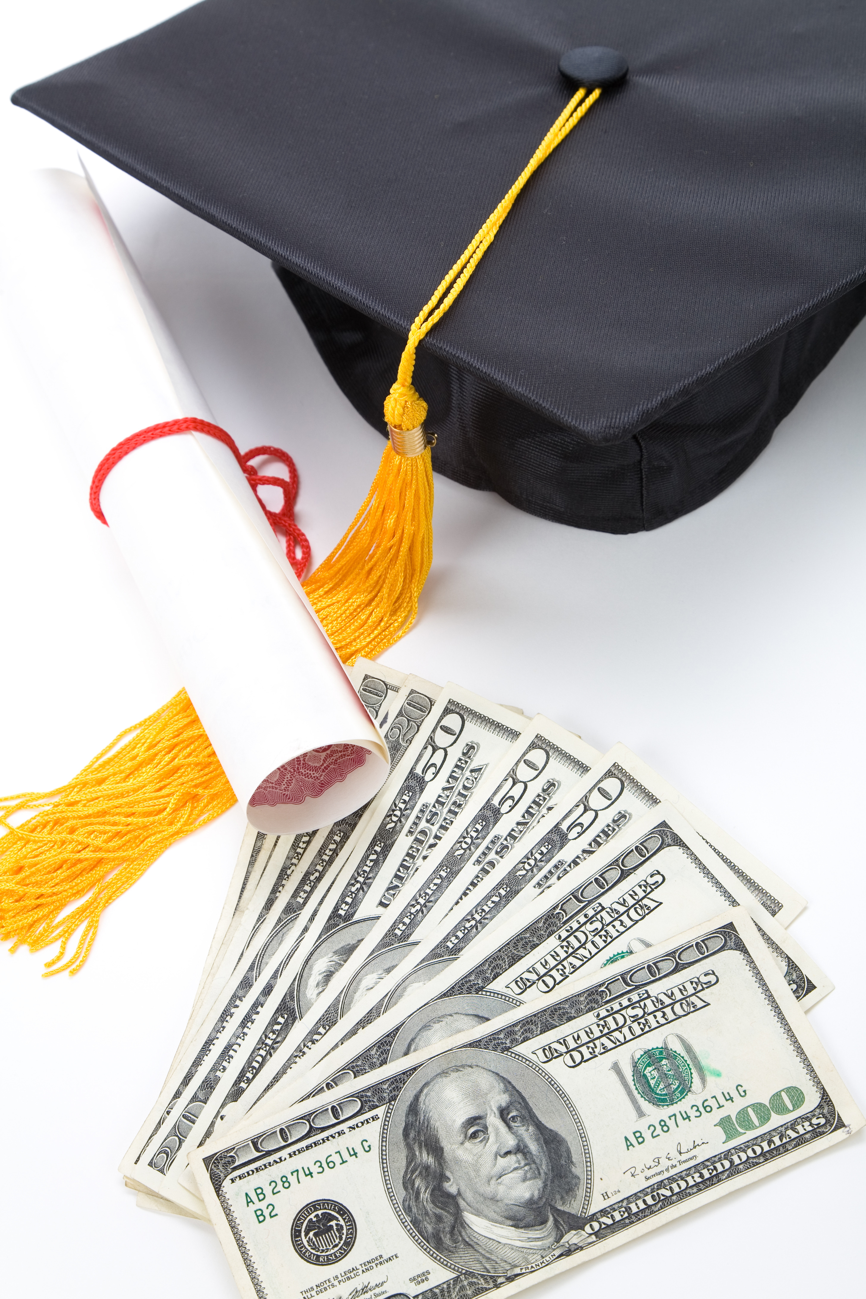Black Mortarboard and dollar