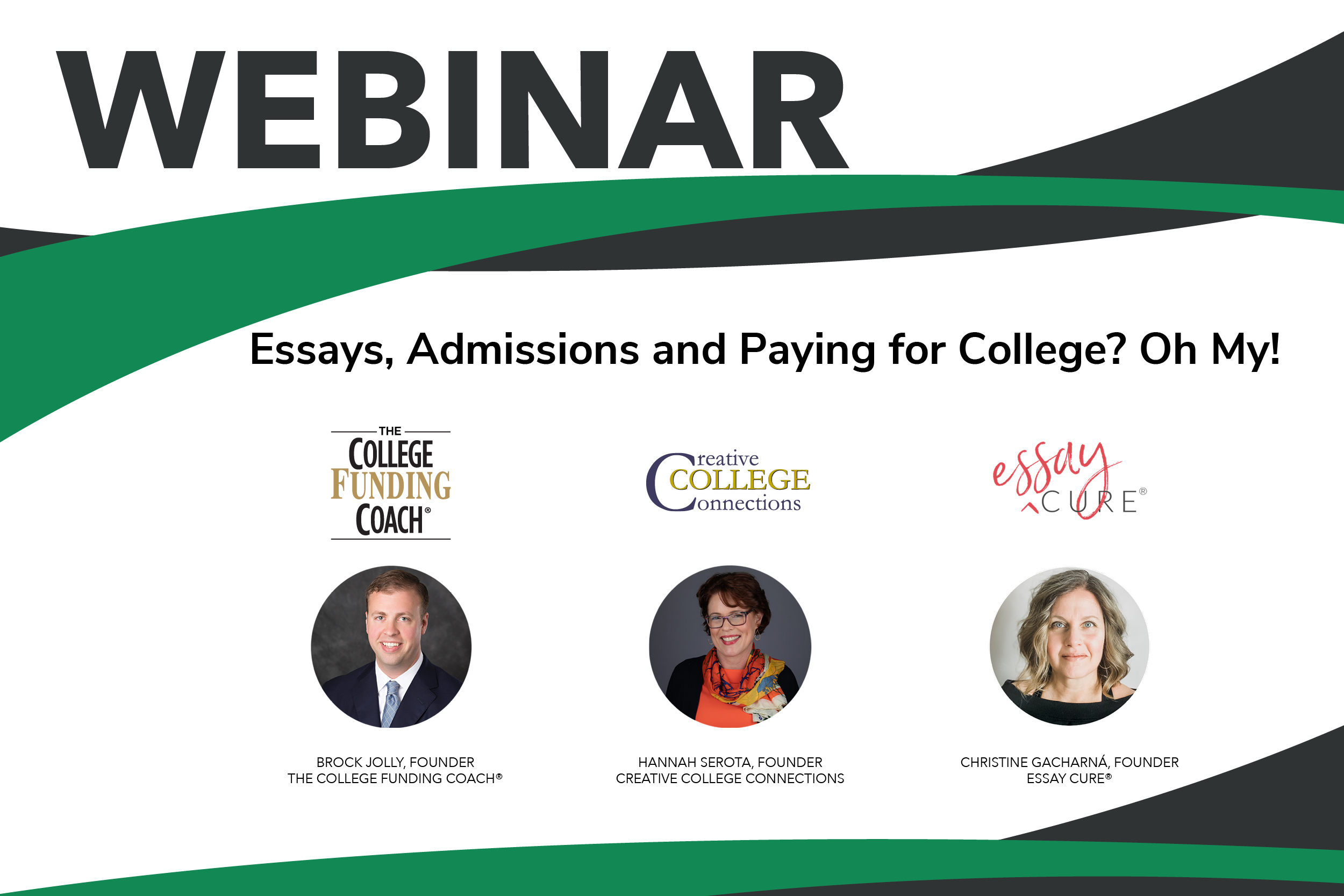 V2 Essays, Admissions And Paying For College? Oh My!